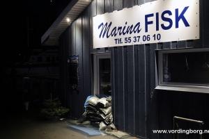Høj vandstand i Vordingborg Nordhavn 4. januar 2017