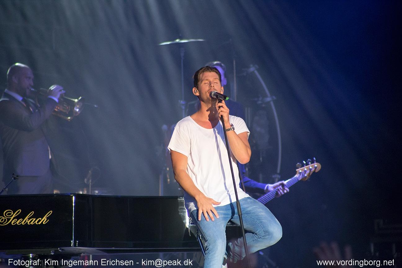 Billeder fra Rasmus Seebach koncert