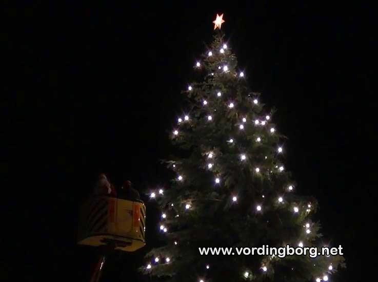 Juletræet bliver tændt i Vordingborg