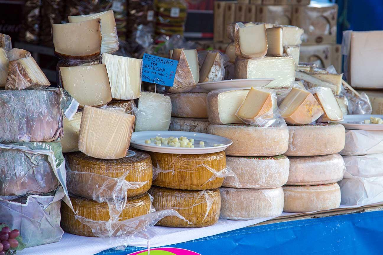 Italiensk Marked på Slotstorvet i Vordingborg