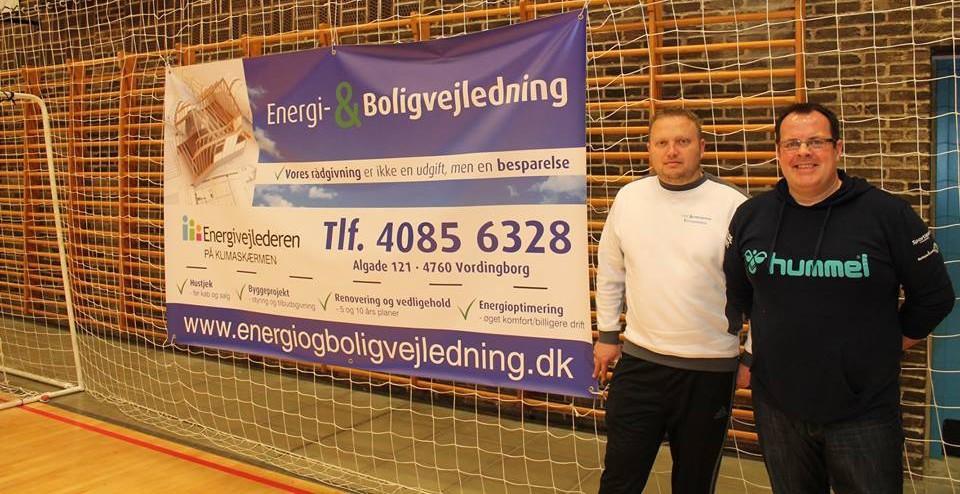 Brian Henriksen (tv), Energi- & Boligvejledning og Jan Lindorff (th), Sydsjællands Håndboldklub