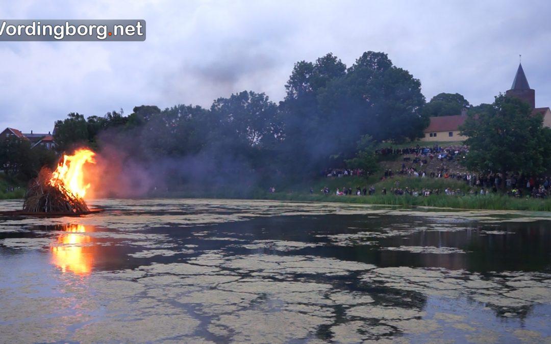 Sankt Hans i Vordingborg d. 23. juni 2017 – Bål på Borgen – Se video