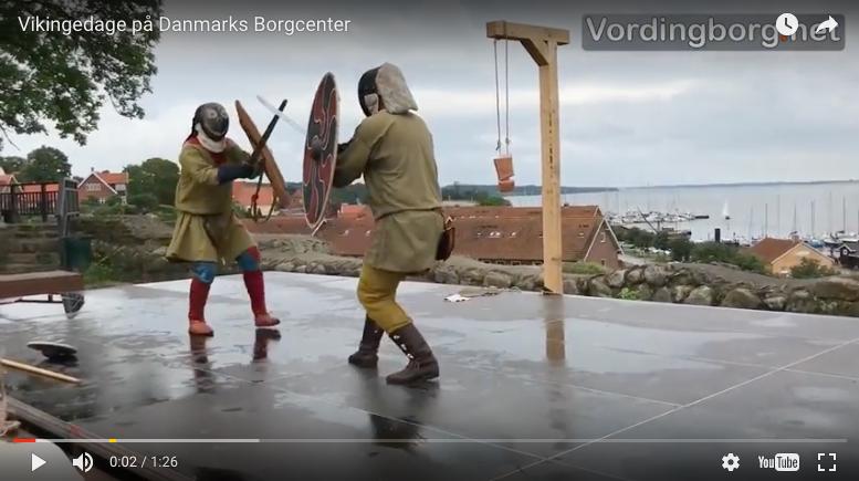 Se video fra Vikingedage på Danmarks Borgcenter 12. og 13. august 2017