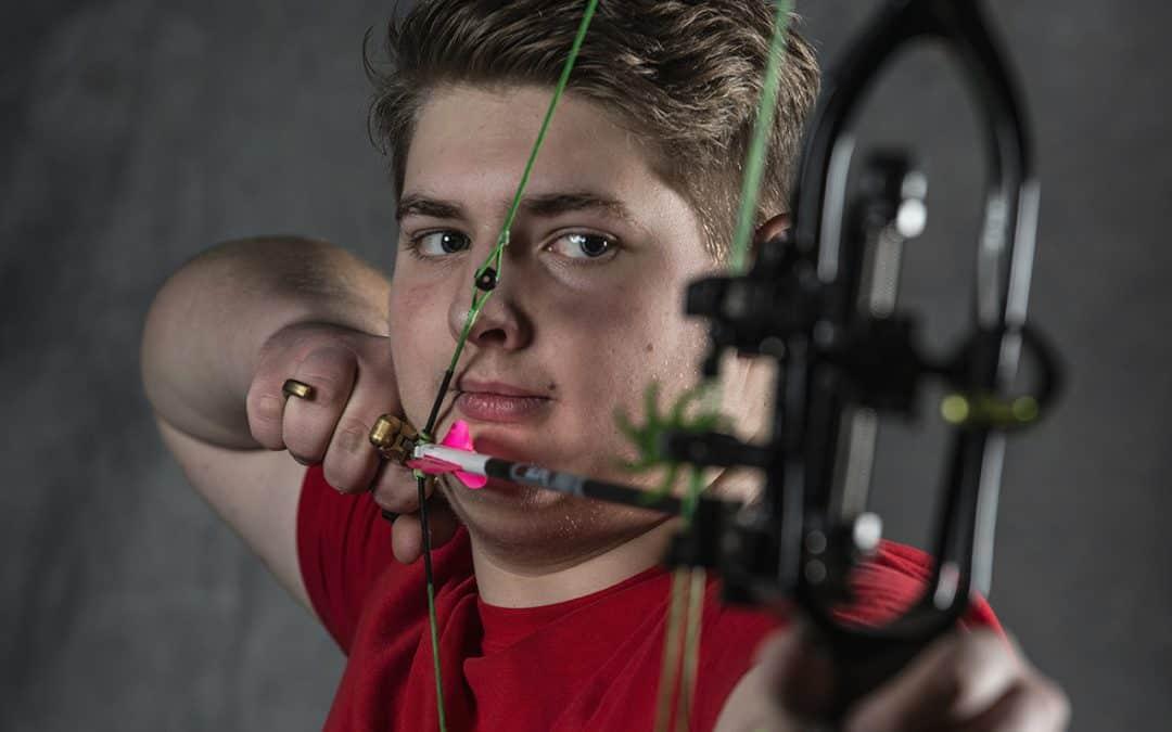 Bueskytten Simon Olsen fra Vordingborg Bueskyttelaug har vundet VM guld