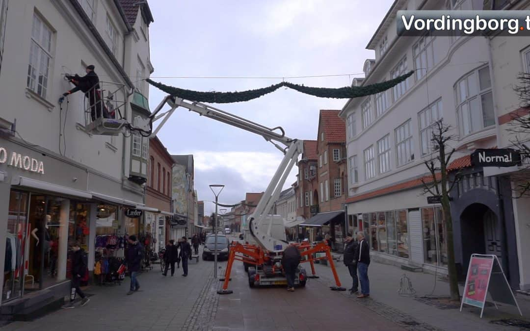 Julebelysningen i Vordingborg er et godt eksempel på lokalt samarbejde [Video]