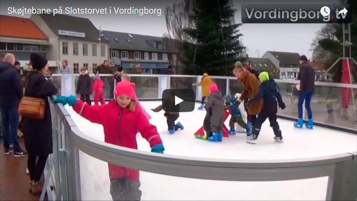 Skøjtebane på Slotstorvet i Vordingborg [Video]