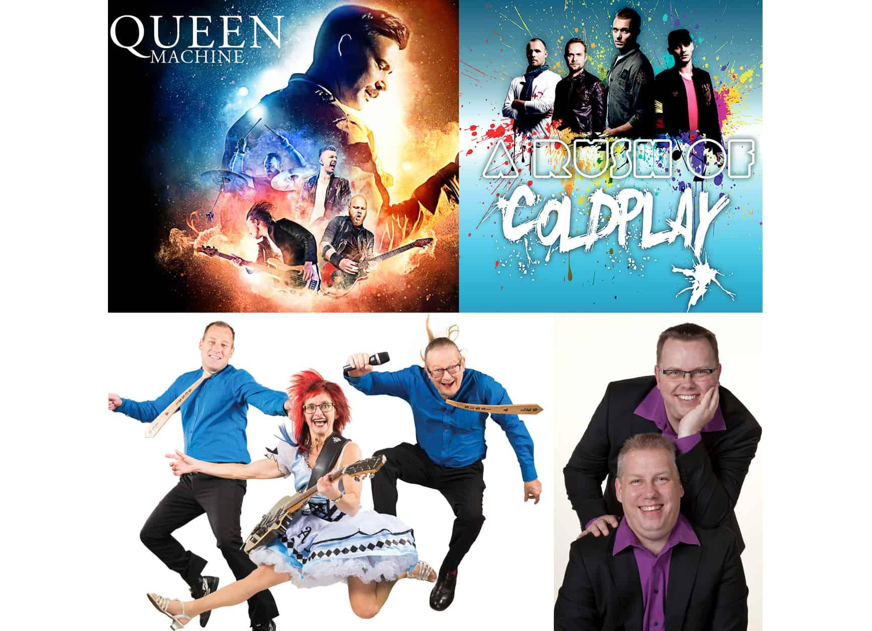 Queen Machine, A Rush of Coldplay og Sussi & Leo til Vordingborg Festuge 2018