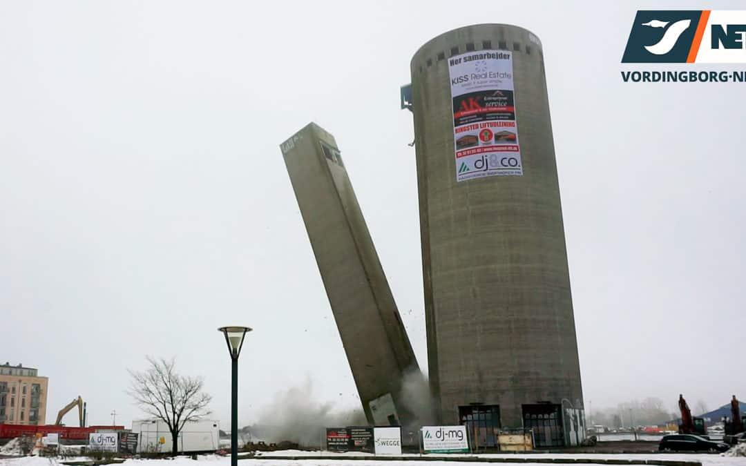 Trappetårn ved silo sprængt væk – Se video her