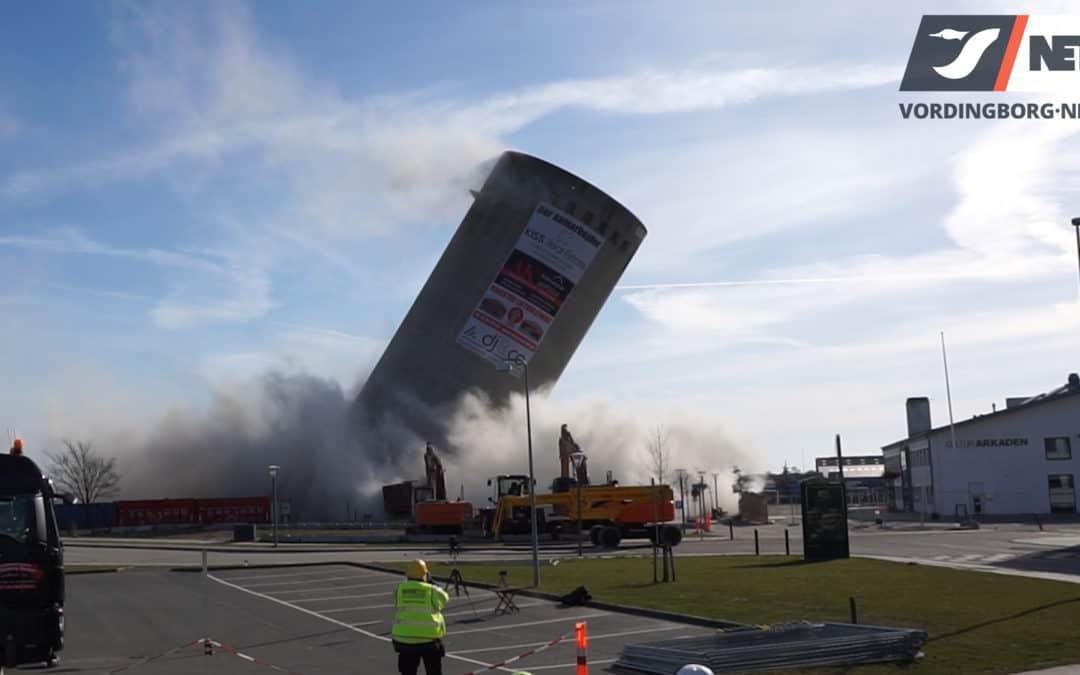 Se sprængning der går galt af stor silo på Vordingborg Sydhavn [Video]