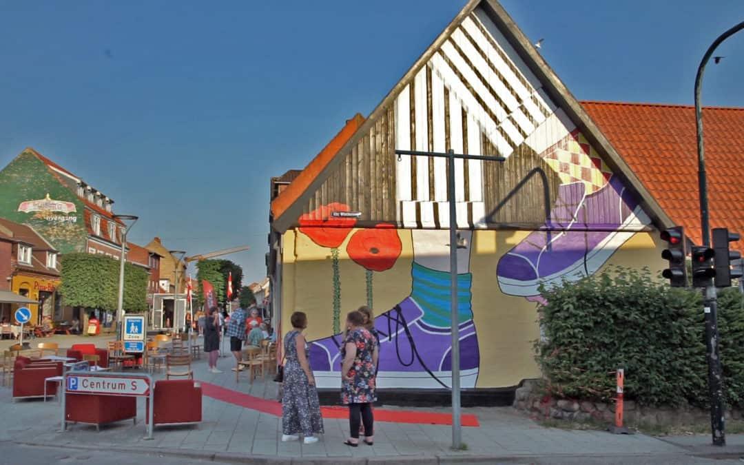 Nyt gavlmaleri ved Bykontoret i Algade i Vordingborg