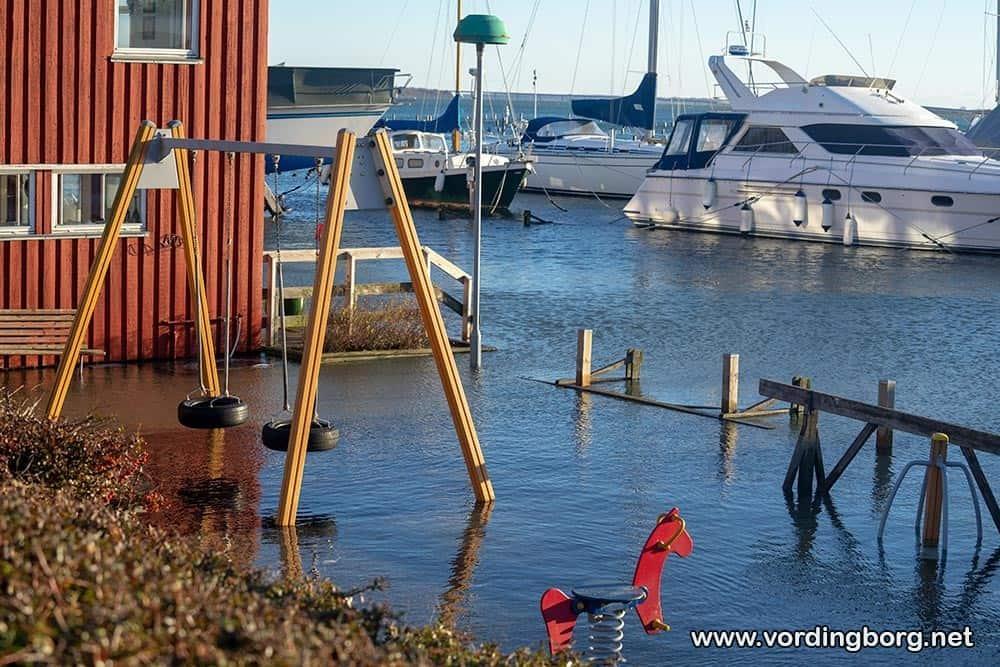 Billeder fra oversvømmelser i Vordingborg og Kalvehave