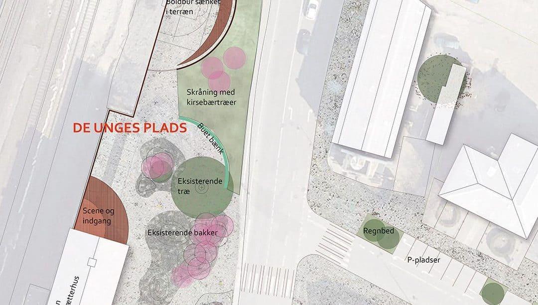 Skitser til nye byrum ved Vordingborg Station