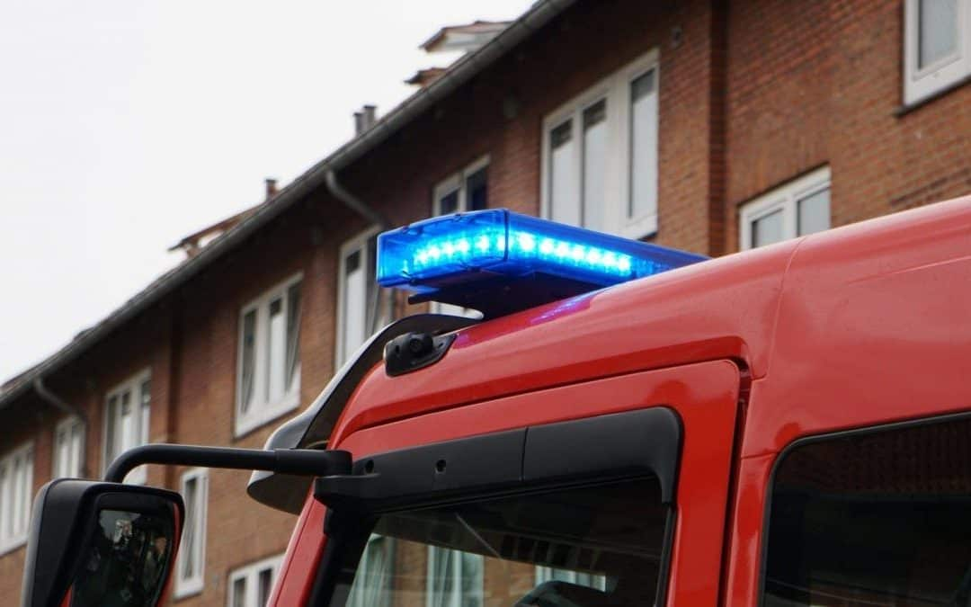 Brand i etageejendom på Parkvej i Vordingborg