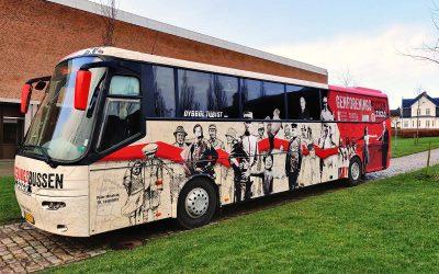 Genforeningsbussen 2020 gør stop ved Vordingborg Gymnasium