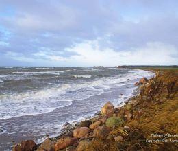 Playa de mineral en Vordingborg después de la tormenta Egon - 11 de enero de 2015