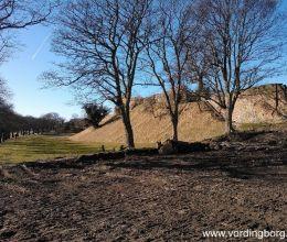 إعادة إنشاء الخندق حول قلعة Vordingborg
